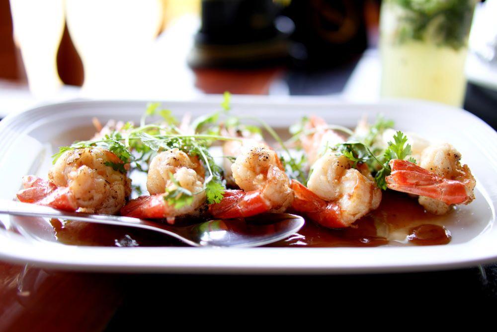 shrimp meal at st augustine restaurant