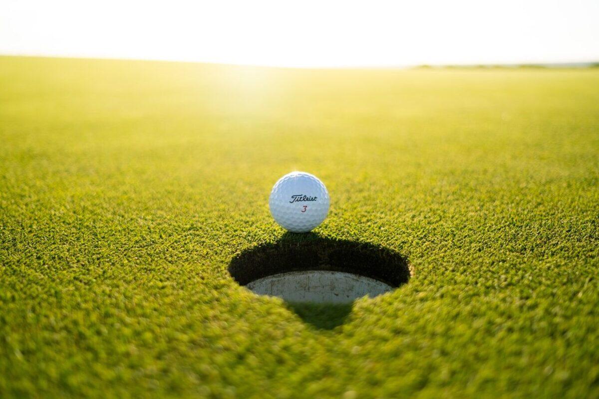 golf ball in the golden hour