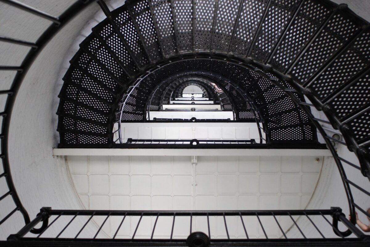 the stairwell to the top of the st augustine lighthouse